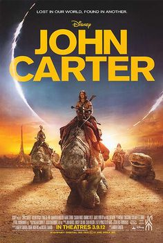 JOHN CARTER (2012): Transported to Barsoom, a Civil War vet discovers a barren planet seemingly inhabited by 12-foot tall barbarians. Finding himself prisoner of these creatures, he escapes, only to encounter Woola and a princess in desperate need of a savior.