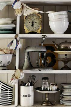 Black and White Antique kitchen