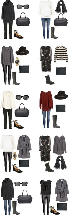 What to Wear in Glasgow, Scotland. Outfits 11-20 #packinglight #travellight #traveltips