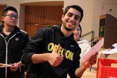 University of Oregon American English Institute - Int'l students enjoying the New Student Orientation Luncheon. http://studyusa.com