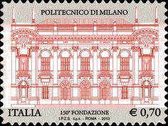 2013 - 150° anniversario della Fondazione del Politecnico di Milano - Facciata della sede principale del politecnico di Milano