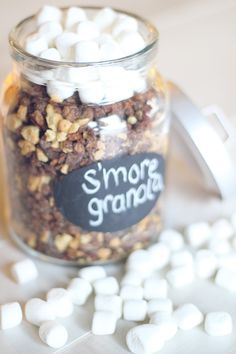 """S'mores Granola-- pair with """"high-protein Greek yogurt, and have yourself a well balanced and tasty snack!"""""""