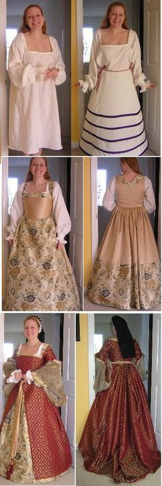 Can you name all of the different parts to a Tudor Dress?