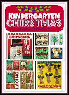A Kindergarten Christmas: Season Crafts and Bulletin Boards at RainbowsWithinReach