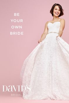 Be sweet. Be wild. Be originally, unapologetically you. At David's, we can't wait to help you Dip Dye Wedding Dress, Cute Wedding Dress, Wedding Wear, Wedding Party Dresses, Wedding Bridesmaids, Bridal Dresses, Bridesmaid Dresses, Dream Wedding, Different Wedding Dresses