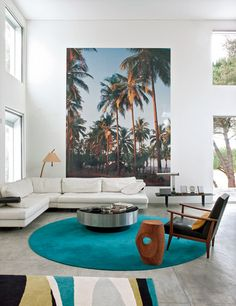 Beautiful painting and love that color on the rug, must be much bigger though