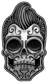 Rockabilly sugar skull