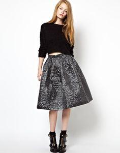 House of Holland Full Skirt in Oilslick #modernvintage