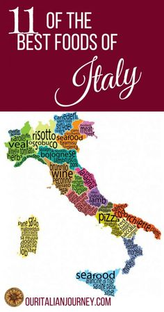 Our latest post will create some controversy, I'm sure. How can you list everything? We tried our best, look for yourself at http://ouritalianjourney.com/11-best-foods-of-italy/