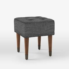 Upholstered Tufted Stool | west elm