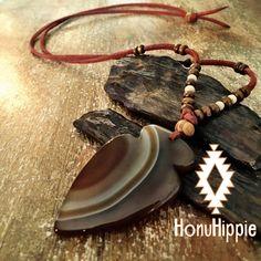 Native american arrowhead necklace, boho hippie yoga jewelry by HonuHippie on Etsy https://www.etsy.com/listing/277367498/native-american-arrowhead-necklace-boho