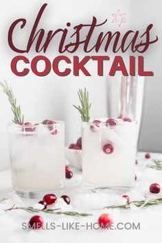 What could be better for a Christmas Cocktail than this Mistletoe Kiss? It's a delightful drink with vodka, lemon juice, and a special and insanely easy simple syrup that ties the whole drink together. With some cranberries and rosemary to garnish, it's perfect for the holdiay season.