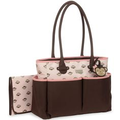 Carter's Luggage Tag Tote Diaper Bag with Monkey Print
