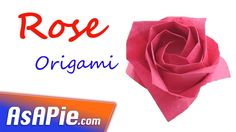 How to make an origami rose ♥ Origami rose instructions VERY EASY! - Published on Dec 21, 2015 Origami flower instructions ✿ How to make an origami flower ROSE. This is a guide on how to make an easy origami flower! If you are looking for a site for origami flower, this is definitely it! You should have all heard and seen a lot of easy origami flower, origami rose, etc.  So, let us learn how to make a beautyful rose from paper.  - Origami Level: Beginner - What do you need? o A 15 * 15
