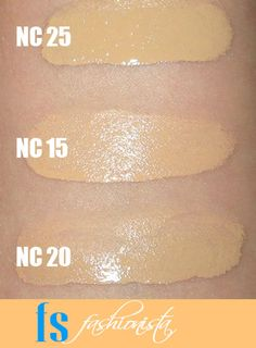 MAC Pro Longwear Foundation Swatches