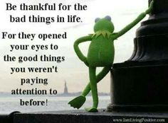 Be thankful for the bad things