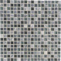 Mosaïque mur Fusion flex gris 1.5 x 1.5 cm