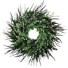 Image result for christmas wreath pheasant feathers