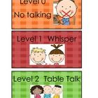 This is an update to the cards I have for those of you who are lower grade teachers wanting visuals for the voice levels. Classroom Behavior, School Classroom, Classroom Management, Behavior Management, Classroom Organization, Classroom Decor, Pbis Kindergarten, Champs Behavior, Voice Level Charts