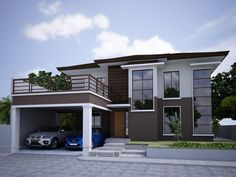 Contemporary House with Clean and Simple Plan and Interior Modern Zen House Design CM Builders Modern Zen House, Modern Small House Design, Contemporary Design, Modern Houses, Small Houses, Interior Design Philippines, Philippines House Design, Modern Exterior Doors, Exterior House Colors