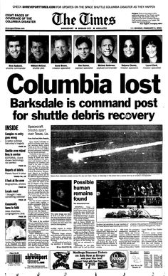 space shuttle columbia news coverage - photo #31