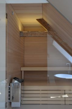 Weyts Architecten | De nieuwe badkamer met sauna in Oudemolen