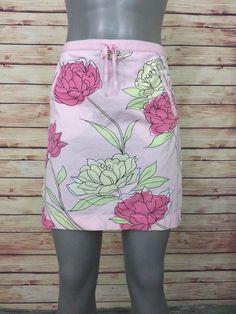 Ann Taylor LOFT pencil skirt pink floral above knee womens size 8 #AnnTaylorLOFT #StraightPencil