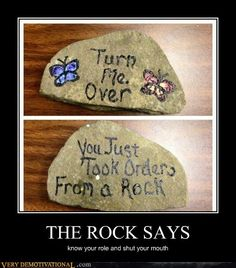 THE ROCK SAYS