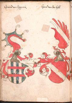 Wernigeroder (Schaffhausensches) Wappenbuch Süddeutschland, 4. Viertel 15. Jh. Cod.icon. 308 n  Folio 69v