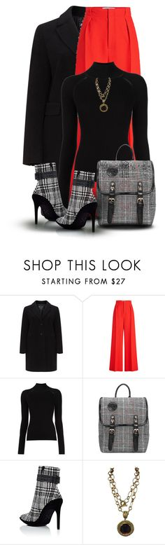 """""""Plaid - Bag & Shoes"""" by oribeauty-cosmeticos ❤ liked on Polyvore featuring Roland Mouret, Off-White and Patrizia Daliana"""