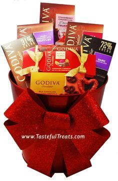 Valentine's Day Godiva Chocolate Basket $74.99
