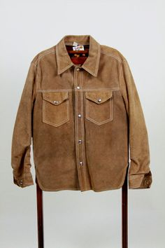 1960s Mens Hippie Shirt Suede Buckskin Jacket by BuffaloGalVintage on Etsy