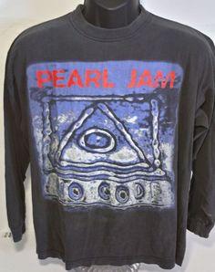 Vintage Pearl Jam No Code 1996 Concert Tour Mens Size XL Long Sleeve T Shirt #CottonWorld #GraphicTee