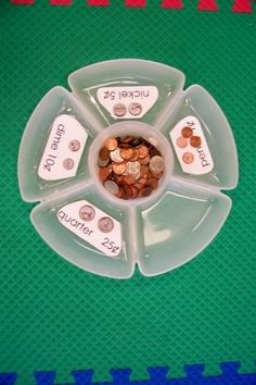 LOVE this coin sort for a center activity or assessment! This site has great ideas already made, ready to print out for special education students. A money sorting center would be perfect for any life skills or secondary special education task. Life Skills Classroom, Special Education Classroom, Math Classroom, Kindergarten Math, Kids Education, Classroom Setup, Special Education Activities, Future Classroom, Preschool Life Skills