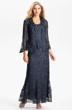 $418 graphite sz medium Soulmates Three Piece Crochet Silk Skirt Set | Nordstrom