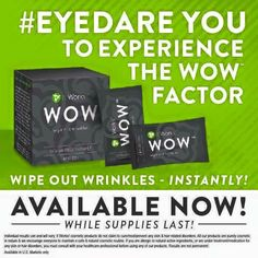 Want to get rid of wrinkles INSTANTLY!!! 90 second results and you will be saying WOW WOW WOW.. It Works #byebyebotox #eyedare