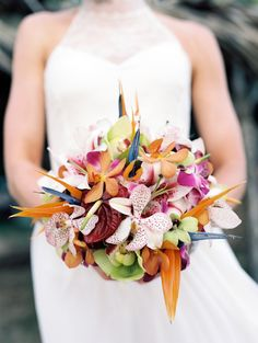 tropical wedding bouquet design
