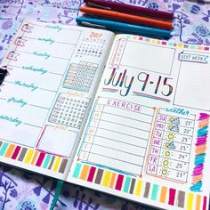 35 vind-ik-leuks, 6 reacties - @bujo.snowberry op Instagram: 'I went a little nuts with with the colours in this weeks layout but I kind of love it LOL  . . . .…' Journal Pages, Journal Ideas, Bujo Weekly Spread, My Kind Of Love, Planner Ideas, Bullet Journals, School Ideas, Planners, Journaling
