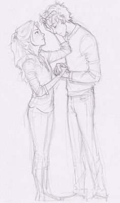 Celaena and (Chaol?) ... (not drawn by me)