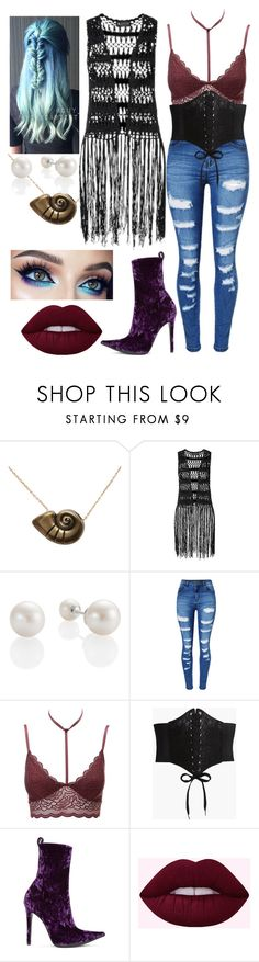 """Ursula's Daughter"" by hannahsenpai ❤ liked on Polyvore featuring Disney, Laura Scott, WithChic, Charlotte Russe, Boohoo and Haider Ackermann"