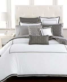Hotel Collection Embroidered Frame Duvet Covers, Only at Macy's | macys.com