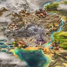 Asperia world map is finally ready! Made for Spellweaver tcg :blulletred: ©Dream Reactor This is the world where powerful Spellweavers battle. Asperia world map World Of Warcraft Map, Warcraft 2, Village Map, Map Artwork, Unique Architecture, Goblin, Board Games, Digital Art, Deviantart