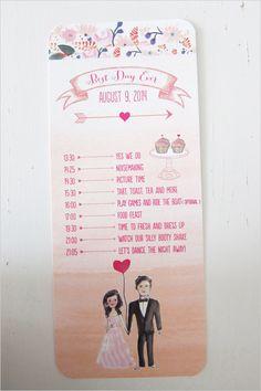 illustrated wedding program