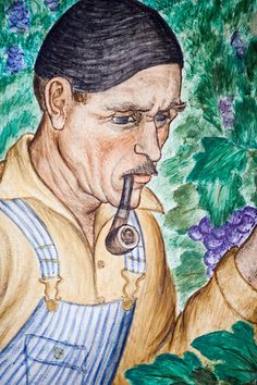 Wine Maker, for more, please visit: http://www.painting-in-oil.com/artworks-Rivera-Diego.html