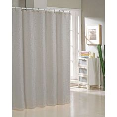 Alcott Hill Blarwood Jacquard Shower Curtain Color: Silver