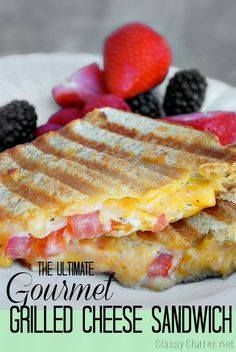 The Ultimate Gourmet The Ultimate Gourmet Grilled Cheese...  The Ultimate Gourmet The Ultimate Gourmet Grilled Cheese Panini - amazing Cafe Zupas copycat! Recipe : http://ift.tt/1hGiZgA And @ItsNutella  http://ift.tt/2v8iUYW