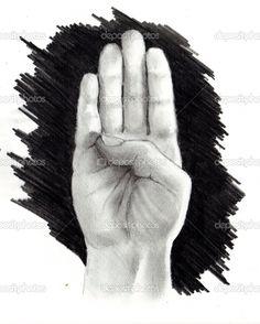 Google Image letter B in sign language