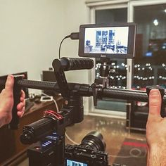 @blakekaiser rigged out with ikan DH5 and TILTA ES-T16