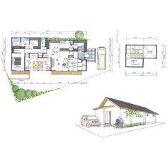 清家修吾さんはInstagramを利用しています:「. 【ボツプラン410】 洗面所横のWICは、廊下からも使えるようにしたいって要望を受けての設計かもしれませんが、この近距離にドアつけすぎです。実際に家が完成したら『このドア要らんかった』ってなりそう。 .…」 Japan Room, One Story Homes, Story House, Sweet Home, Sweet Sweet, Home Projects, Floor Plans, Construction, Cabin