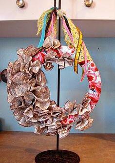 DIY Newspaper Wreath
